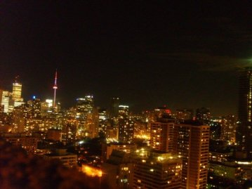 The Toronto skyline is full
